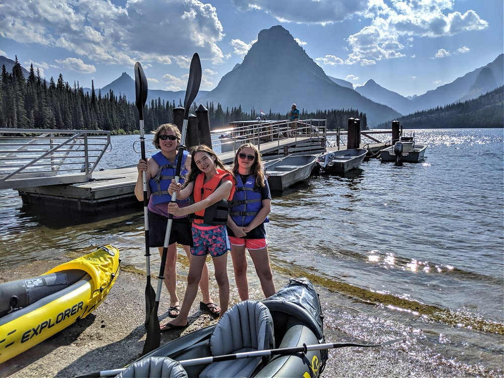 Two Medicine Lake Kayaking at Glacier National park