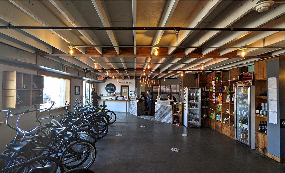 Adrift Hotel Lobby with Bikes