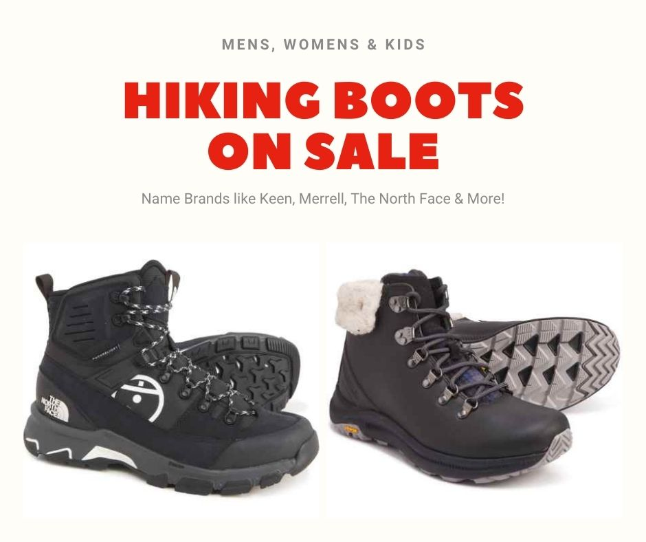 Hiking Boots Sale – For Men, Women & Kids – Starting at $22!
