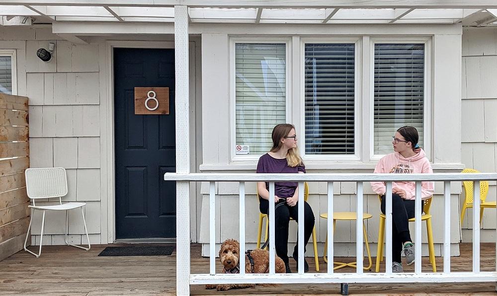 Boardwalk Cottage Porch at Long Beach WA