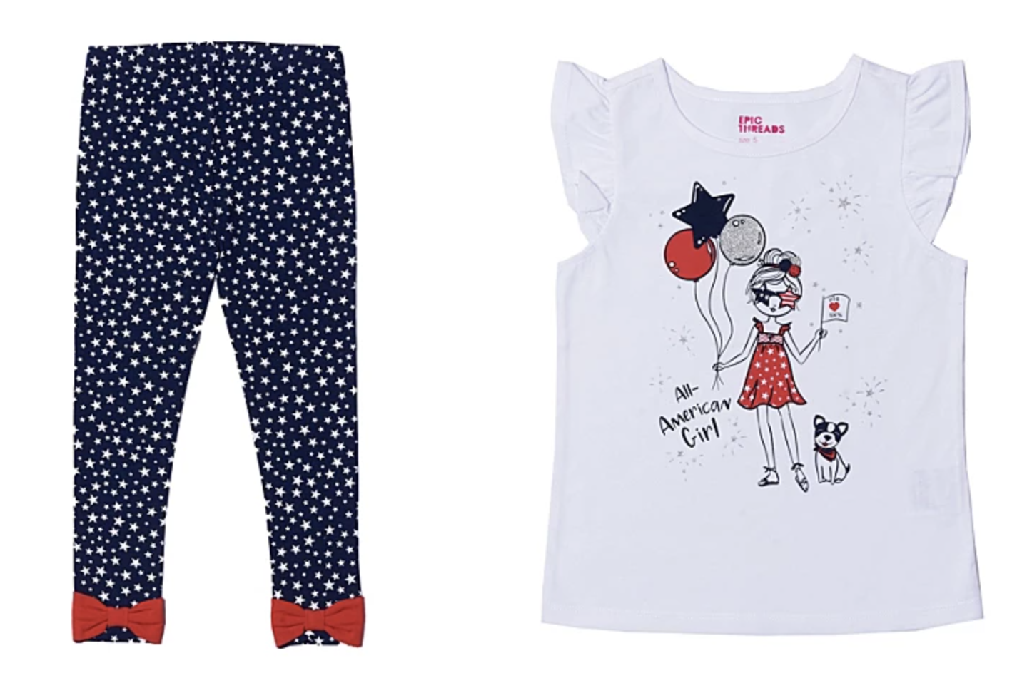 Toddler Girls 4th of July outfit