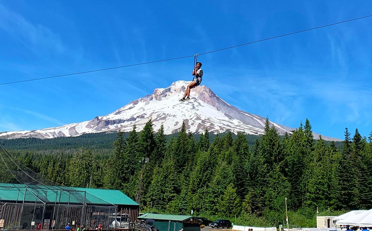 ziplining at skibowl