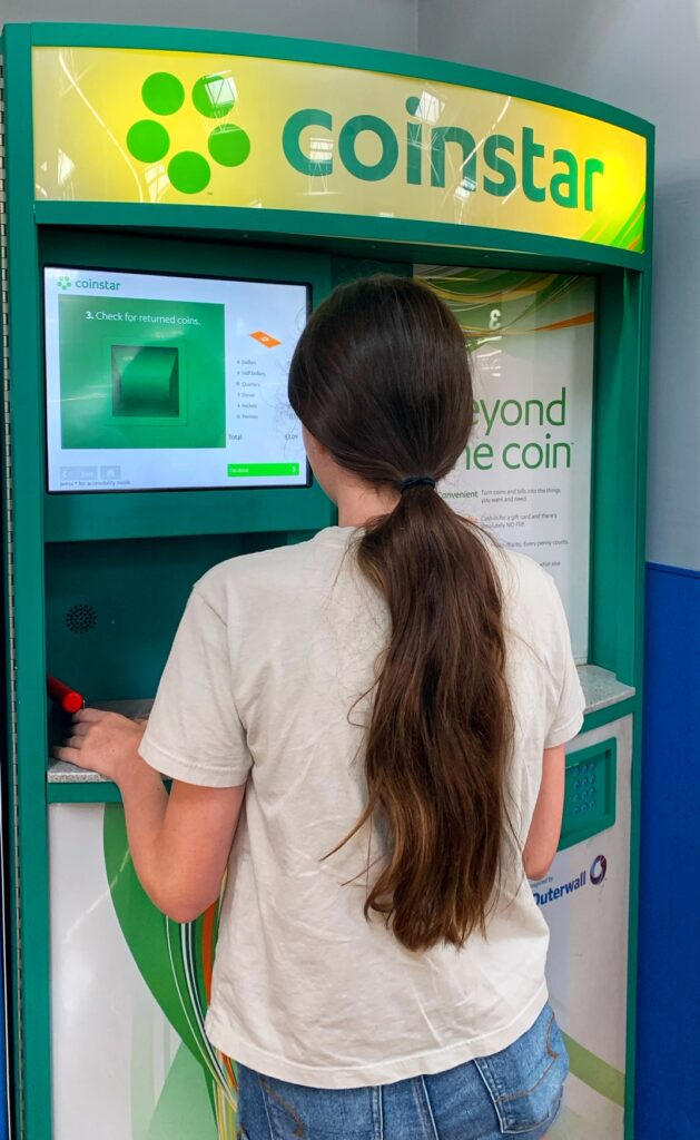 Use Coinstar for Back-To-School Shopping!