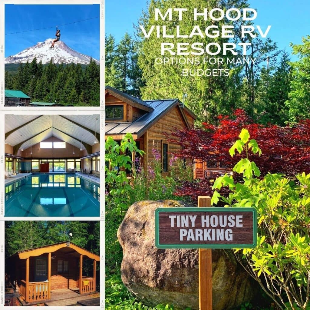 Mt Hood Village RV Resort, Tiny Houses, Cabins & More – Summer Review!