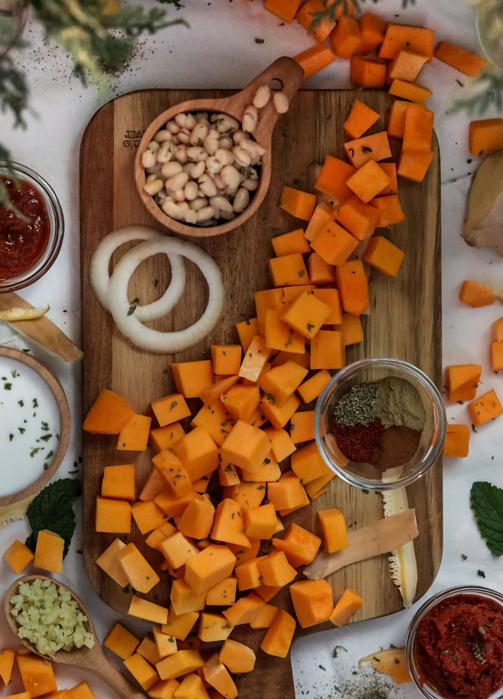 Ingredients needed for Butternut Squash Soup with Curry