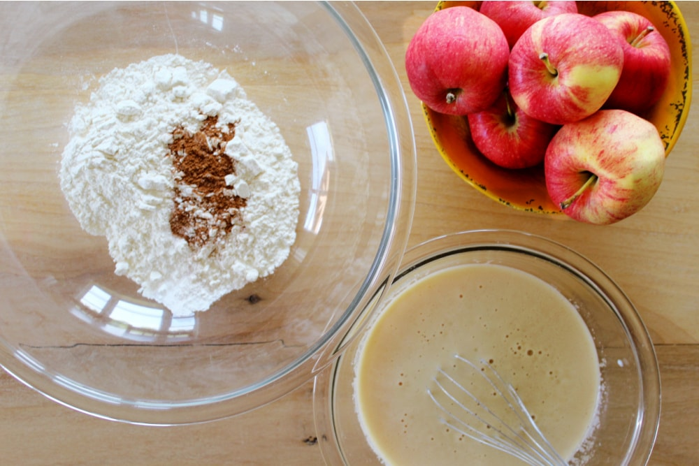Apple Cider Donuts with Mixing Ingredients