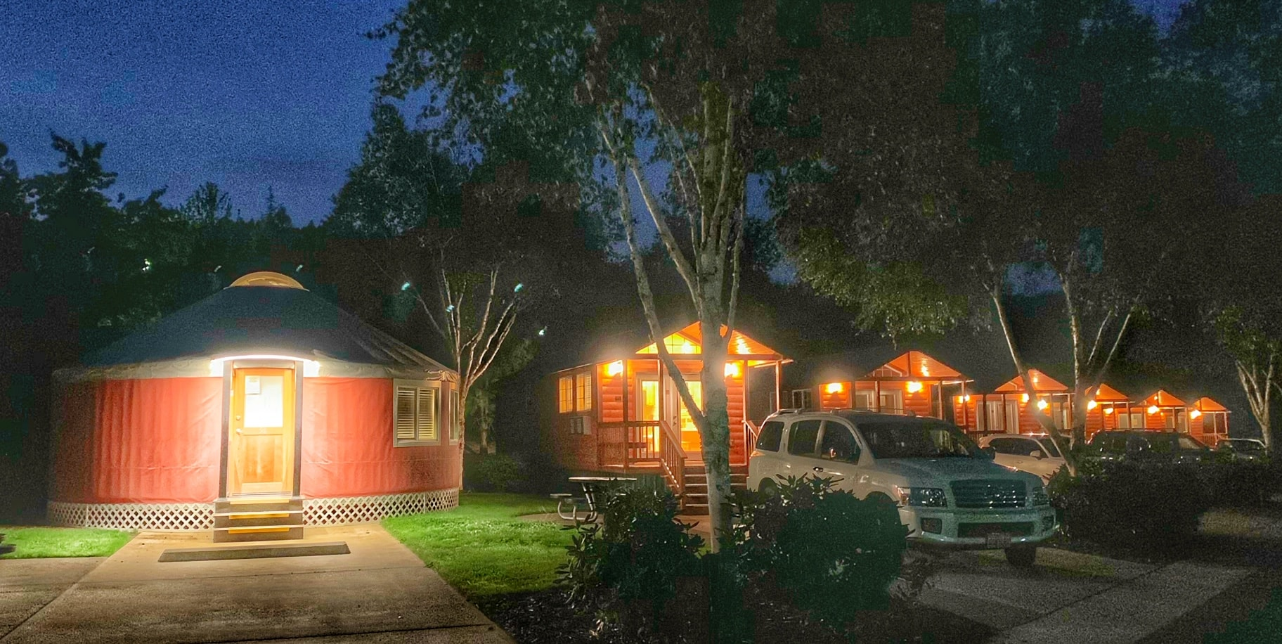 Yurts and cabins in canyonville oregon
