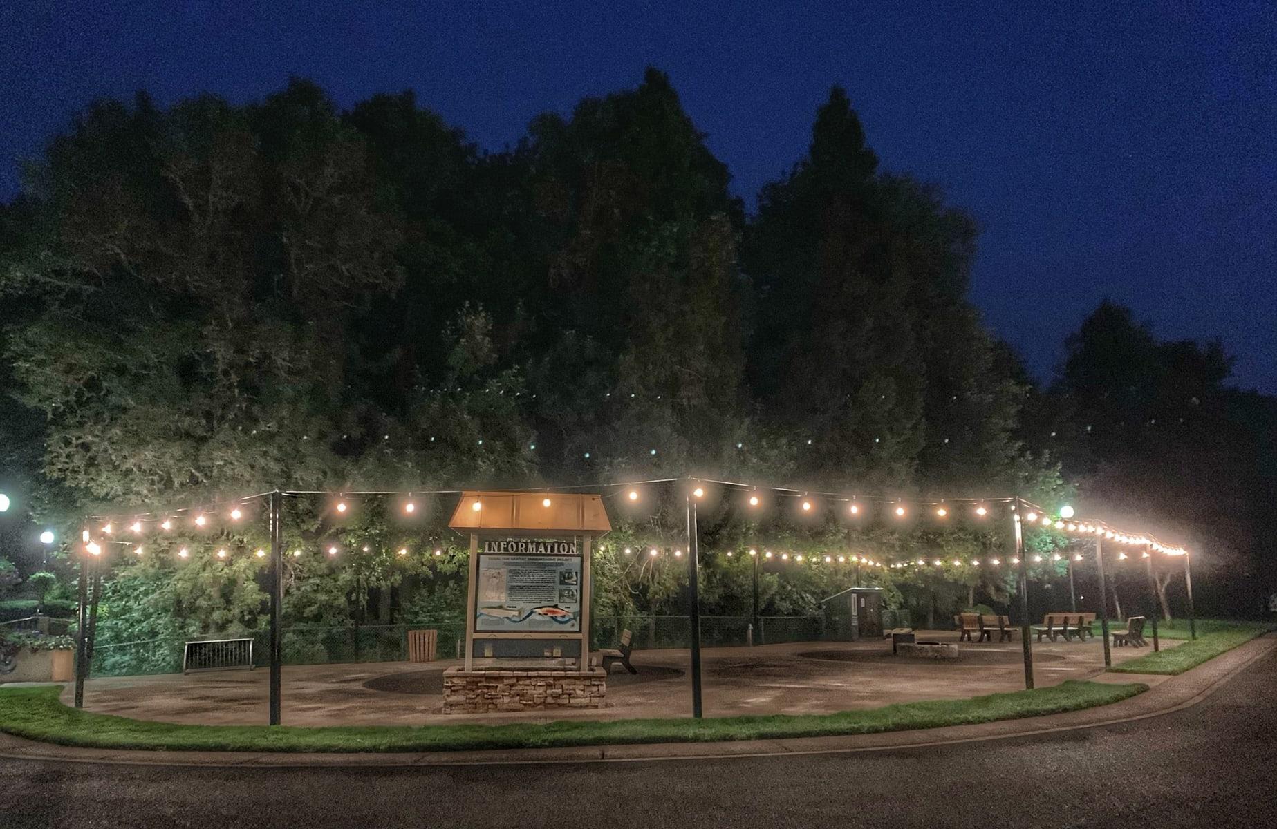 well lit rv park