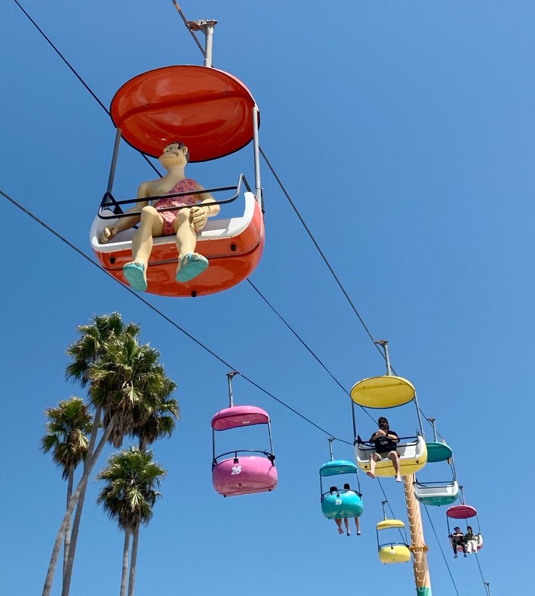 Sky ride at Santa Cruz Boardwalk