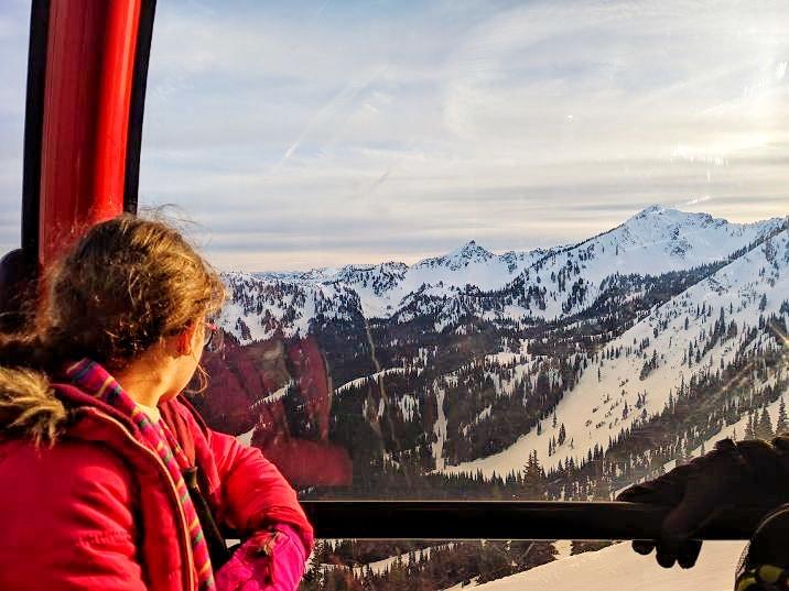 View on crystal mountain gondola ride