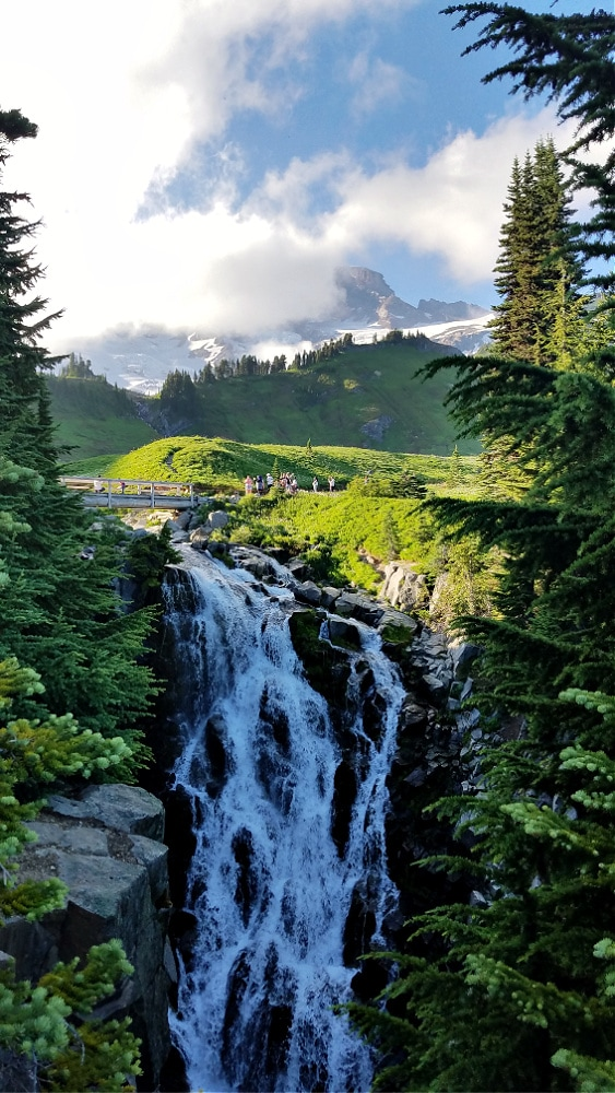 Myrtle Falls at Mount Rainier