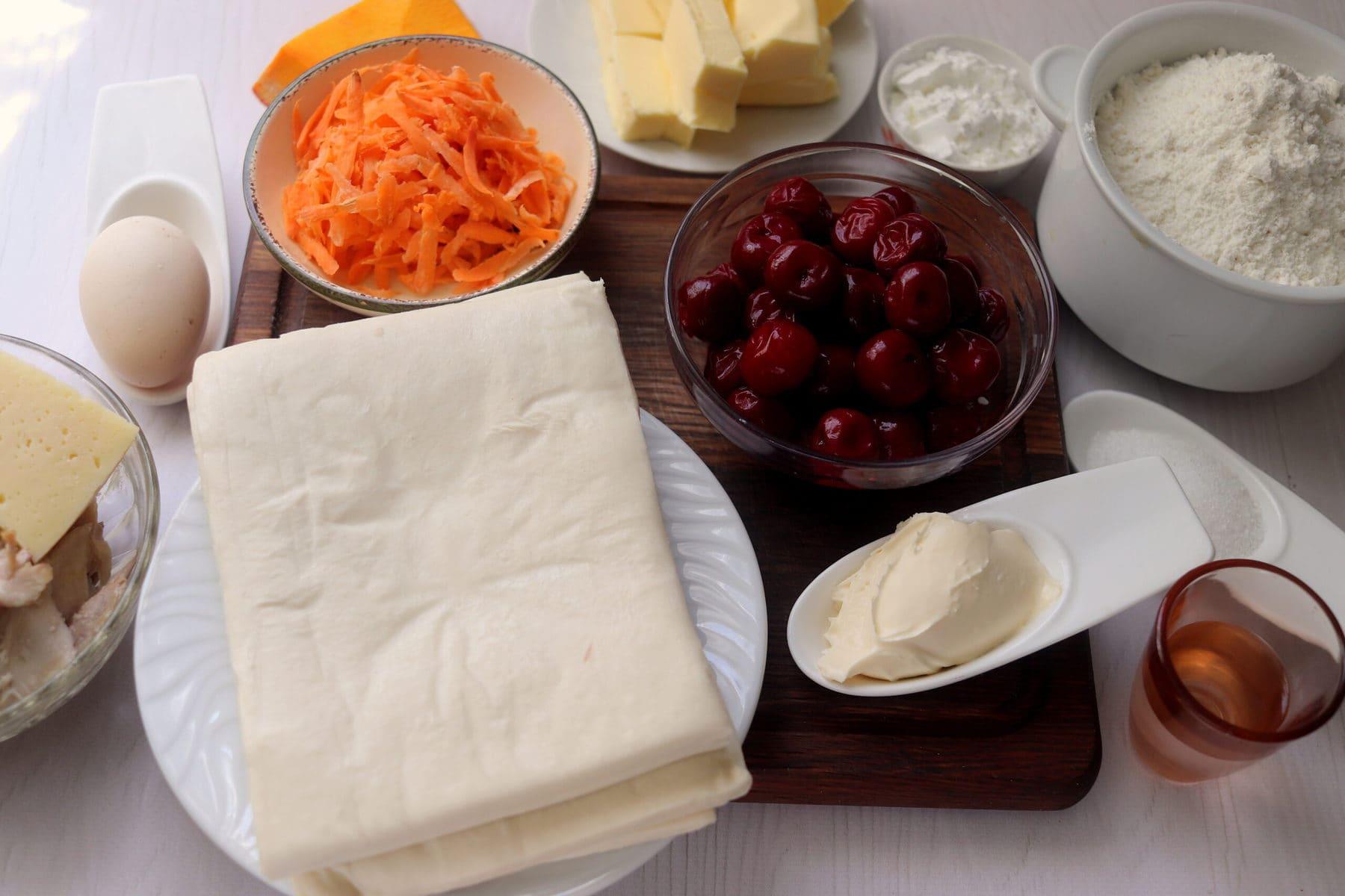 ingredients for halloween pie
