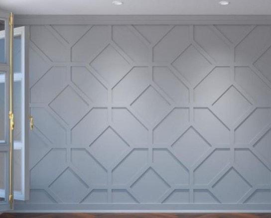 geometric wood wall appliques