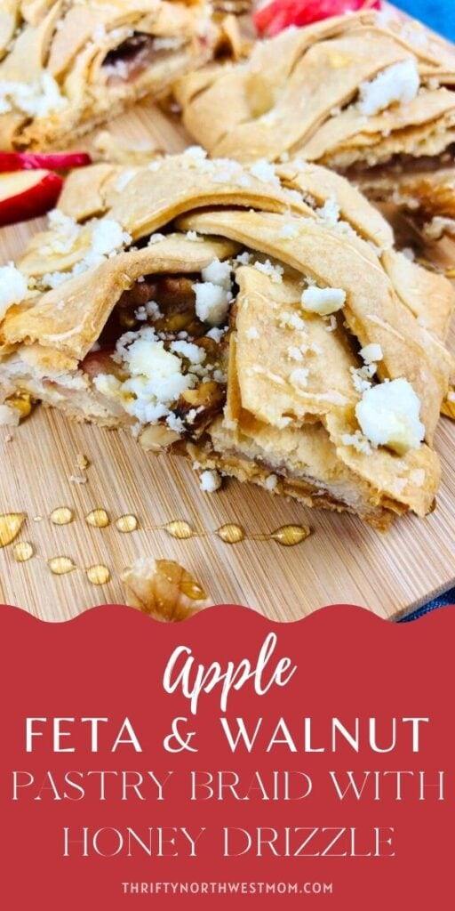 Apple, Feta & Walnut Pastry Braid with Honey Drizzle Recipe