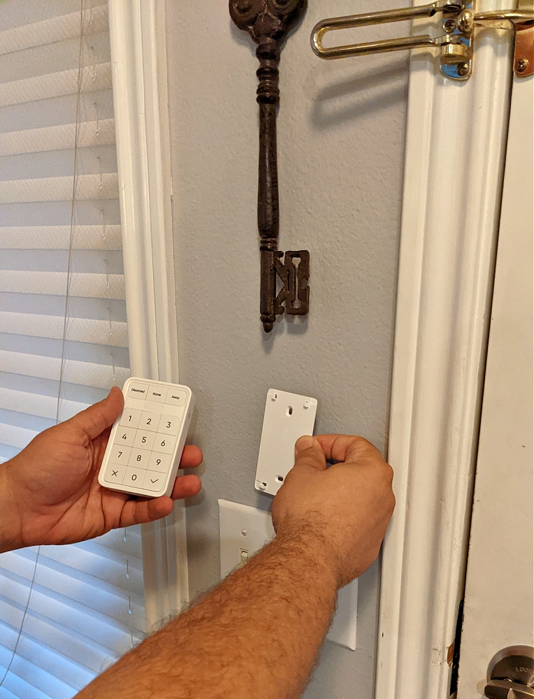 installing the wyze security panel